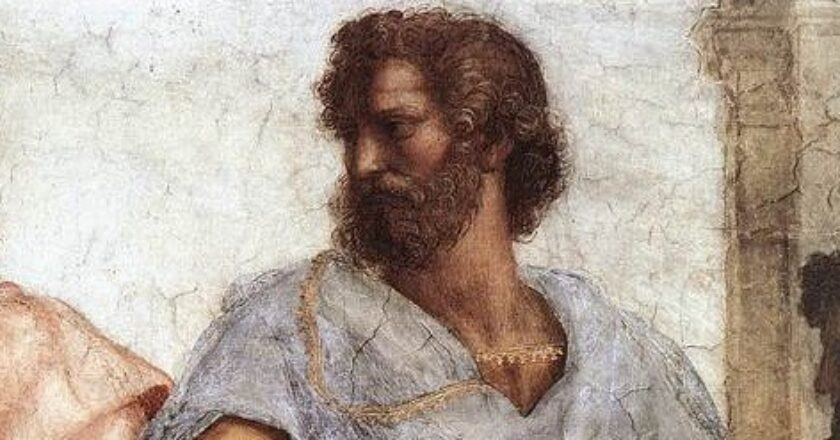 """The Greek philosopher Aristotle once said that """"happiness depends upon ourselves."""" (Image: Public Domain)"""