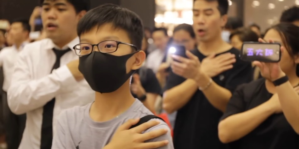 Since last year, the song 'Glory to Hong Kong' has become the unofficial anthem of the pro-democracy protesters in the city. (Image: Screenshot / YouTube)
