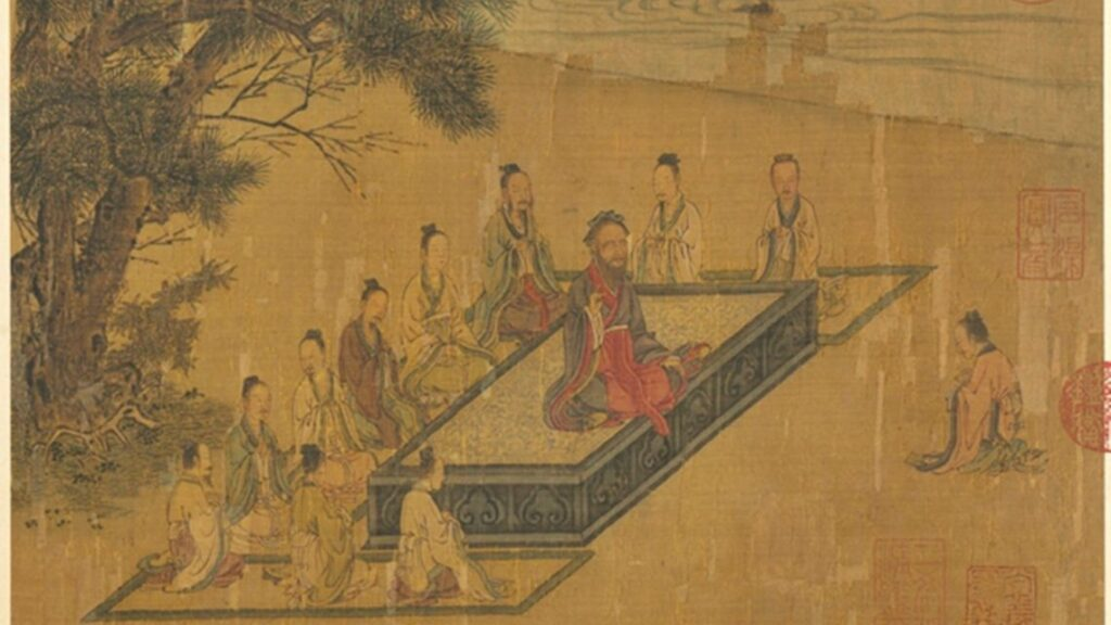 A painting from the Song Dynasty, which illustrates 'the Classic of Filial Piety' compiled by Confucius's disciples. (Image: Taiwan's National Palace Museum)