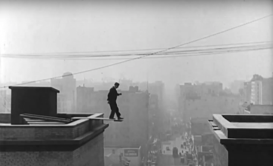 The 'Accidental Gag.' Keaton didn't make his jump, so just built on the gag of him falling. (Image: Every Frame a Painting via Screenshot / YouTube)